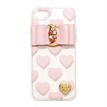 【iPhone6/6s/7/8】ベビーピンクハートケース