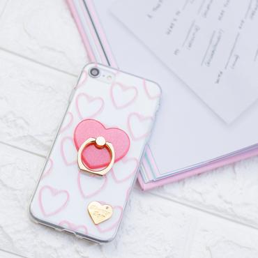 ハートリング付ピンクハートケース