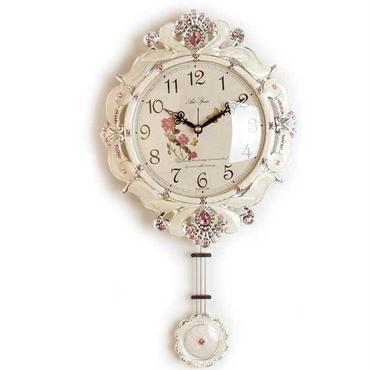 【セール・メーカー直送・送料無料】■ヴィクトリアンスタイル振り子時計 アイボリー