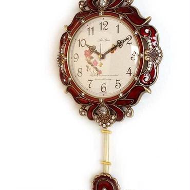 【セール・メーカー直送・送料無料】■ヴィクトリアンスタイル振り子時計 レッド