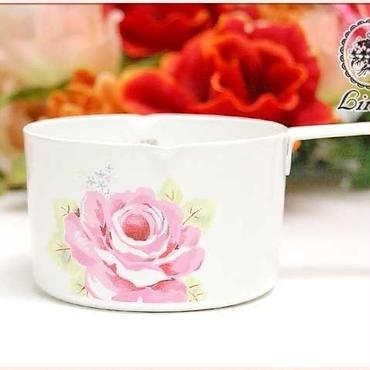■薔薇の食器Lindy(リンディー) シャルール ホーロー 計量カップ 【薔薇雑貨 テーブルウエア ピンクローズ 洋食器】