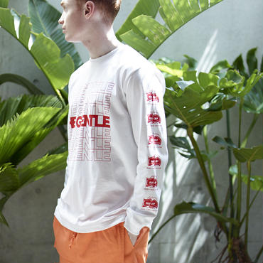 THE GENTLE LONG Tee -WHITE-