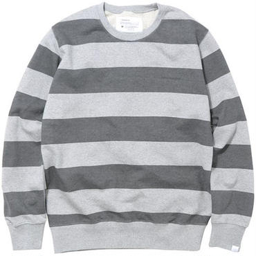 【thisisneverthat】STRIPED CREWNECK(GREY)