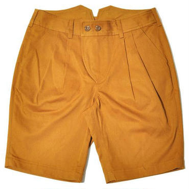 【wisdom】Double Pleat Shorts(MUSTARD)