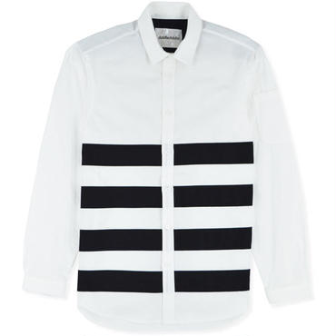 【diddlediddle】TAPE SHIRTS(WHITE/BLACK LINE)/ディドゥルディドゥル テープシャツ(ホワイト・ブラック)