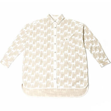 【if&n for wisdom】Wide LS Shirt(IVORY)