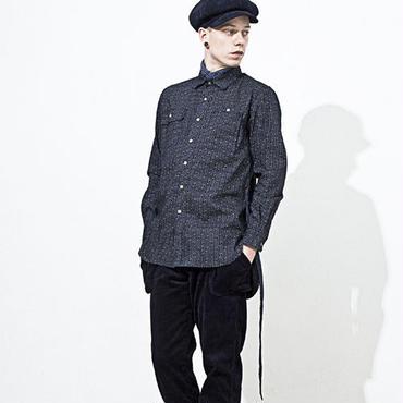 【wisdom×bluespot】Strapped Work LS Shirt(NAVY)/ウィズダムXブスースポット  ストラップロングシャツ(ネイビー)