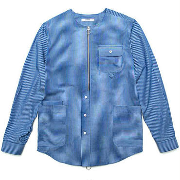 【wisdom】Laborer LS Shirtt(BLUE STRIPE)