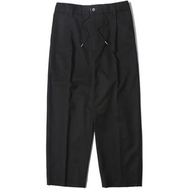 【LIFUL】BAGGY CROP PANTS(BLACK)