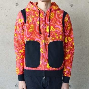 【diddle diddle】PSYCHEDELIC PARKA(RED)ディドゥルディドゥル サイケデリックパーカー