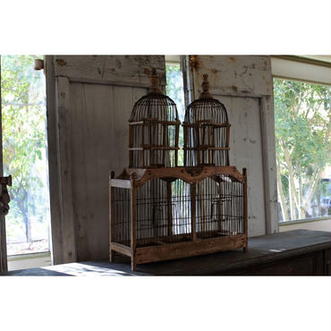 2つの塔を持つ鳥籠・france antique