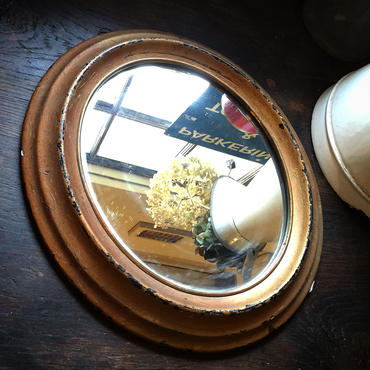 アンティークミラー・オーバル・ナポレオンⅢ
