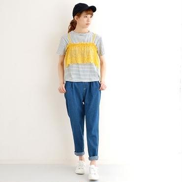 [0836tp]重ねレースミニキャミセットTシャツ