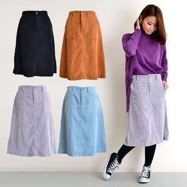 [0630sk]コーディロイミディアムスカート