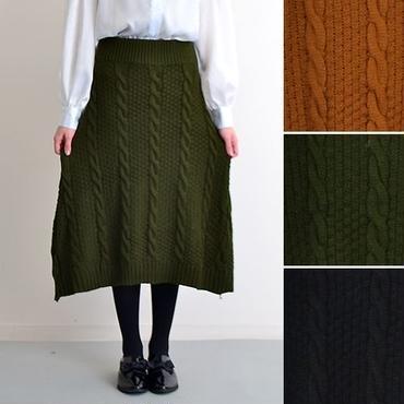 [0662sk]ケーブルニットスカート