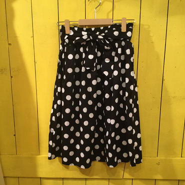 [0439sk]水玉リボンスカート