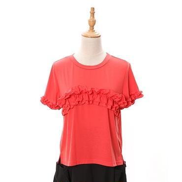 [0821tp]フリルラインTシャツ