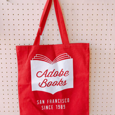 ADOBE BOOKS TOTE BAG *RED