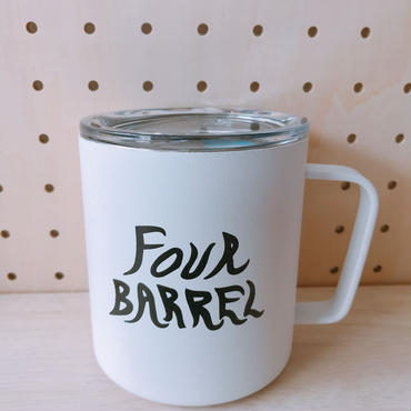 FOUR BARREL COFFEE MUG CUP
