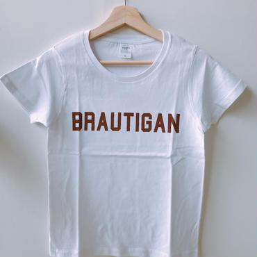 "BOOKNERDオリジナル  AUTHOR T-SHIRT  ""BRAUTIGAN"" WHITE"