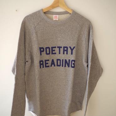 BOOKNERD  オリジナルスウェット『POETRY READING』