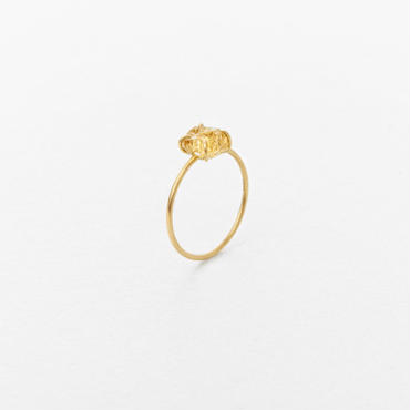Gold Grossular Gem Ring