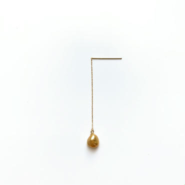 Golden South Sea Pearl Drop Earring