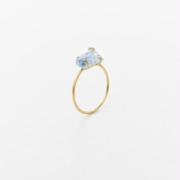 Aquamarine Gem Ring