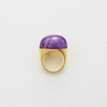 Amethyst Rock Ring (Round)