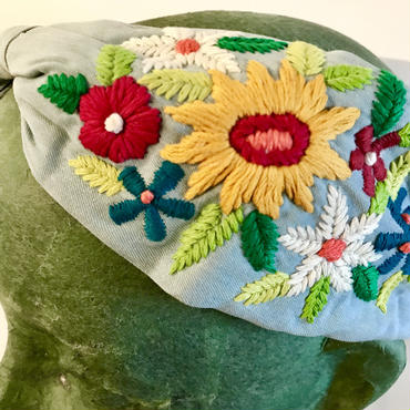 Namrata Joshipura Head Band ヘアアクセサリー  flower embroidery