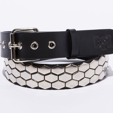 BxH Triple Hexagon Studs Belt