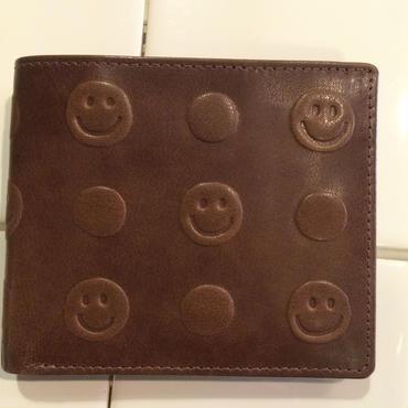 スマイルエンヘボス革財布(ブラウン)