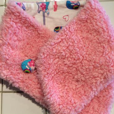 ボアマフラー   ピンク