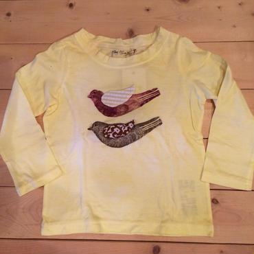 鳥さん長袖Tシャツ(イエロー)