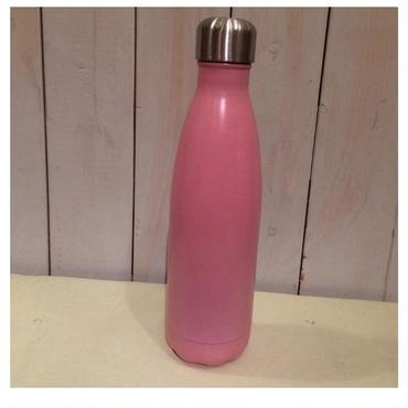ステンレス製携帯用魔法瓶(ピンク)