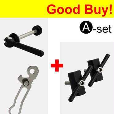 【オンラインストアー限定】Seat Clamp Quick Release & Rear Frame Clip & Hinge Clamp  Set