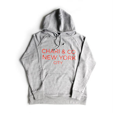 CHARI & CO - GOTHAM LOGO PULL OVER HOOD PARKA GLASS GRAY