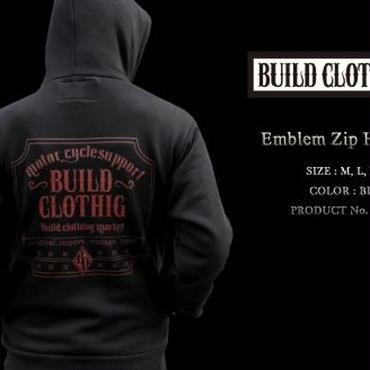Emblem Zip Hoodie