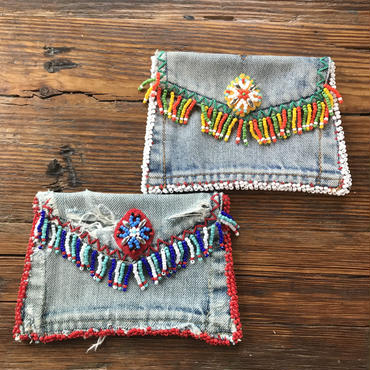 beads denim  remake porch