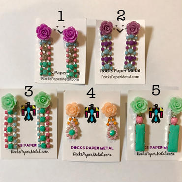 Flower earrings ピアス