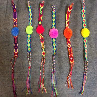 Mexican pompom bracelet