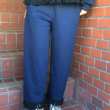 burself wool fringe hem sweat pant