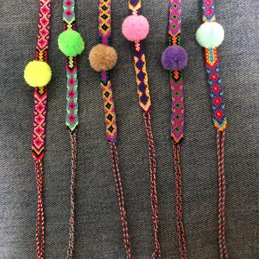 Pompom Friendship bracelet