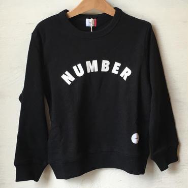 FOV NUMBER  スウェット(ブラック)