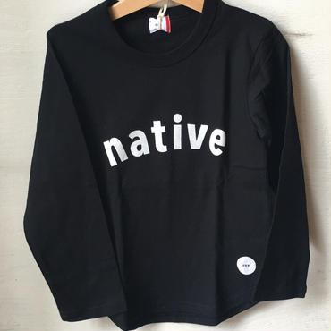 FOV native  L/S T シャツ(ブラック)