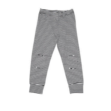 MINGO. winter legging(B/W stripes)