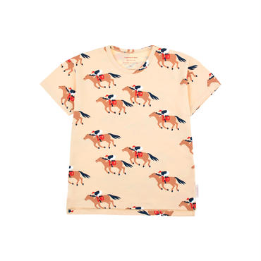"tinycottons ""HORSE FUN RUN"" SS TEE"