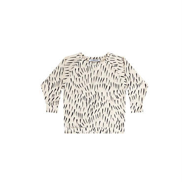 MINGO.   LONG  SLEEVE  (fur printecru/black)