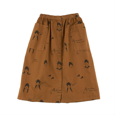 tinycottons no-worry dolls button woven skirt