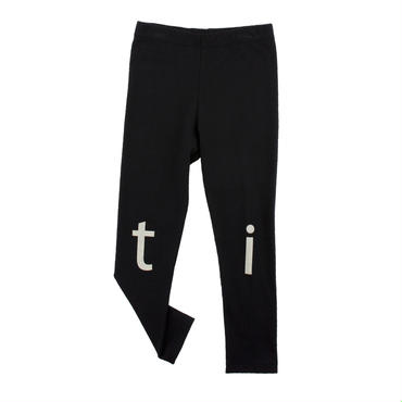 tinycottons t-i-n-y logo pant(black/beige)